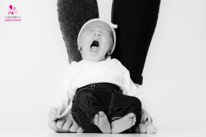 photographe de bébé rigolo